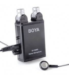 BOA MICROFONICA STEREO CON PICKUP VARIABILE BY-SM80