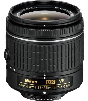 NIKON OBJETIVO AF-P 18-55mm f/3.5-5.6G VR (OBJETIVO DE KIT CAJA BLANCA)