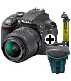 NIKON D3300 + AF-P 18-55DX + TREPPIEDE + CUSTODIA + EBOOK