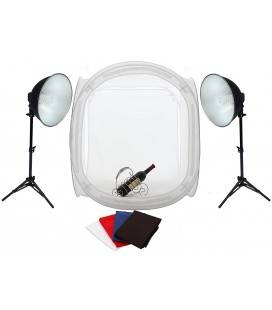 FOTIMA KIT MINI ESTUDIO 60X60 + 2FOCOS 36W