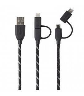 BOOMPODS KABEL DUO GEFLOCHTEN 1M BLITZ/MIKRO USB A USB