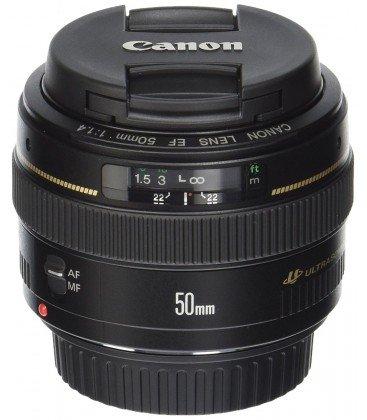 CANON EF 50mm f1.4 USM + 1 ANNO GRATUITO SERPLUS CANON VIP MAINTENANCE SERPLUS CANON