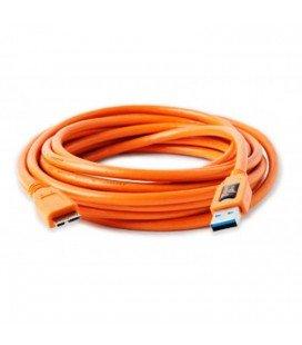 CÂBLE D'ATTACHE POUR OUTILS USB 3.0 MÂLE VERS MICRO B 4.6 M ORANGE (CU5454)