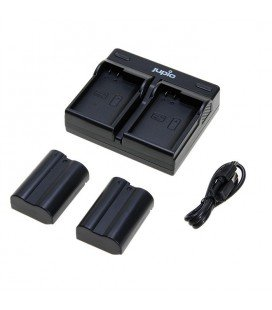 KIT CHARGEUR USB DOUBLE JUPIO + 2 BATTERIES EN-EL15 (CNI1004)