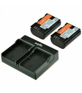 JUPIO DUALES USB-LADEGERÄT + 2 LP-E6 BATTERIEN (CA1002)