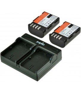 JUPIO KIT CARGADOR USB + 2 BATERIAS DMW-BLF19E