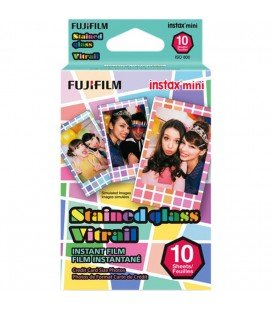 FUJIFILM INSTAX MINI STAINED GLASS(CRISTAL TINTADO) 10 TIRAS
