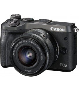 CANON EOS M6 KIT + EF-M 15-45mm F3.5-6.3 IS STM - NOIR + GRATUIT 1 AN VIP MAINTENANCE SERPLUS CANON