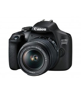 CANON EOS 2000D + 18-55MM F3.5-5.6 IS II KIT + GRATIS CURSO +1 AÑO MANTENIMIENTO VIP SERPLUS CANON