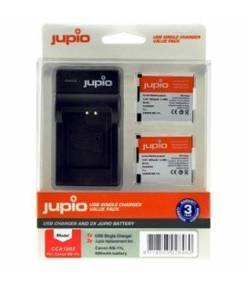JUPIO 2 PILES NB-11CANON + CHARGEUR USB (CCA1005)
