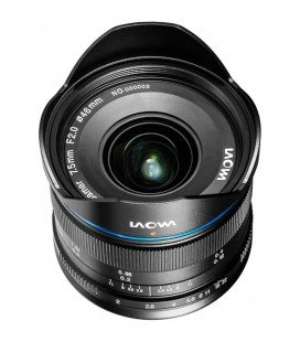 LAOWA 7.5MM F/2 MFT - ULTRA LIGHT VERSION (150gms.) BLACK