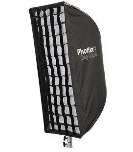 PHOTTIX EASY UP HD SOFTBOX CON REJILLA 40X90CM Y PLACA H-MOUNT (PH82482)
