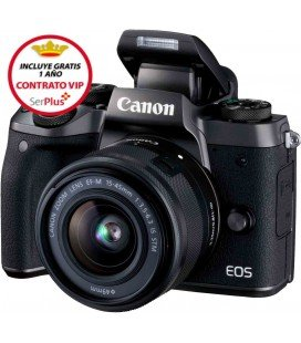 CANON EOS M5 + EF-M 15-45 MM IS STM + REGALO MICRO RODE Y GORILLA TRIPODE + GRATIS 1 AÑO MANTENIMIENTO VIP SERPLUS CANON