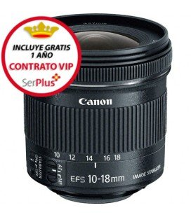 CANON EF-S 10-18mm f/4.5-5.6 IS STM + GRATIS 1 AÑO MANTENIMIENTO VIP SERPLUS CANON