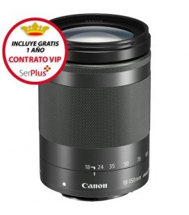 CANON EF-M 18-150mm f/3.5-6.3 IS STM + GRATIS 1 AÑO MANTENIMIENTO VIP SERPLUS CANON