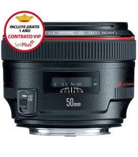 CANON EF 50mm f/1.2L USM + GRATIS 1 AÑO MANTENIMIENTO VIP SERPLUS CANON
