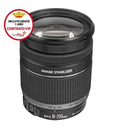 CANON EF-S 18-200mm f/3.5-5.6 IS + GRATIS 1 AÑO MANTENIMIENTO VIP SERPLUS CANON