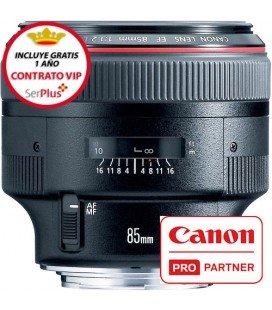 CANON EF 85mm f/1.2 L USM II + 250€ CASHBACK + GRATIS 1 AÑO MANTENIMIENTO VIP SERPLUS CANON