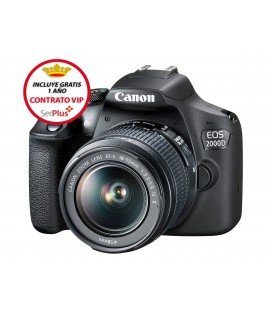 CANON EOS 2000D + 18-55MM F3.5-5.6 IS II KIT + + GRATIS 1 AÑO MANTENIMIENTO VIP SERPLUS CANON