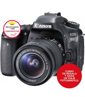 CANON EOS 80D + KIT 18-55MM IS STM + GRATIS CURSO AVANZADO + 1 AÑO MANTENIMIENTO VIP SERPLUS