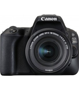 CANON EOS 200D BLACK + 18-55 IS STM ADVANCED PACK + 1 YEAR MAINTENANCE VIP SERPLUS CANON