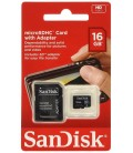 SANDISK MICRO SD 16GB +ADAPTADOR