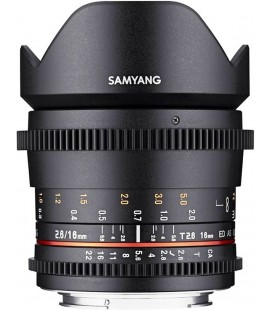 SAMYANG 16MM T2.6 ED AS UMC VDSLR II CANON EF-S